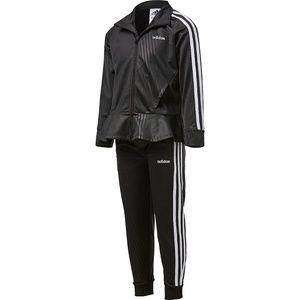 NWT Adidas Girls Embossed Peplum 2pc Set Sz 4